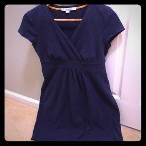 Boden navy cotton day dress